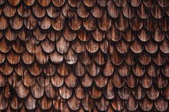 Oud rustiek houten het betegelen dak Royalty-vrije Stock Afbeelding