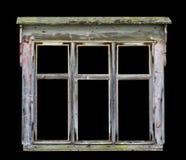 Oud rustiek houten raamkozijn Stock Fotografie
