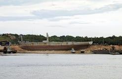 Oud Rusty Boats stock afbeelding