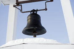 Oud Rusty Church Bell Royalty-vrije Stock Afbeeldingen