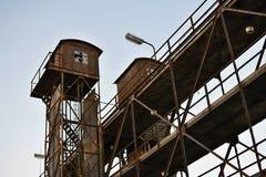 Oud Rusty Loading Tower, Treinvervoer, Praag, Europa Stock Foto