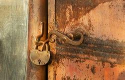 Oud Rusty Padlock Royalty-vrije Stock Fotografie