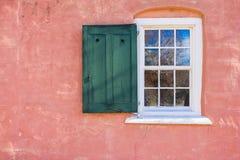 Oud Salem Window Stock Afbeelding