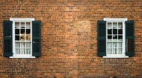 Oud Salem Windows Stock Afbeelding