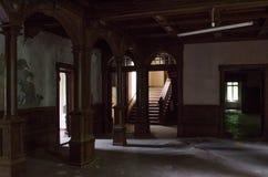 Oud sanatorium Royalty-vrije Stock Fotografie