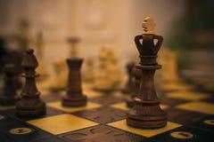 Oud schaak in macrovisie Royalty-vrije Stock Afbeelding