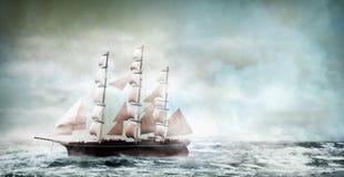 Oud schip royalty-vrije illustratie