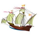 Oud schip Stock Illustratie