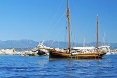 Oud schip royalty-vrije stock afbeelding