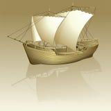 Oud schip Vector Illustratie