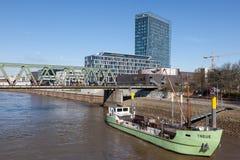 Oud schip in de stad van Bremen, Duitsland Royalty-vrije Stock Afbeeldingen
