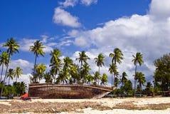 Oud schip in Nungwi Royalty-vrije Stock Afbeeldingen