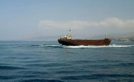 Het wrak van het schip stock fotografie