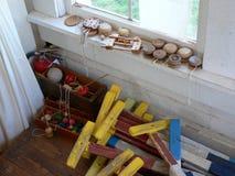 Oud schoolspeelgoed Stock Fotografie