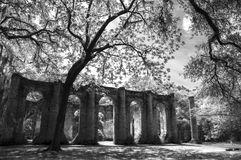 Oud Sheldon Church Ruins Yemassee, Zuid-Carolina Royalty-vrije Stock Afbeeldingen