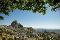 Oud Siciliaans bergdorp Caltabellotta Royalty-vrije Stock Afbeeldingen