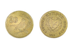 Cyprus 20 centen Royalty-vrije Stock Foto's