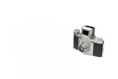 Oud Sjofel SLR 35mm Geïsoleerde Fotocamera Stock Afbeelding