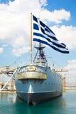 Oud slagschip Royalty-vrije Stock Foto