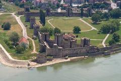 Oud smederevofort op de rivier van Donau Stock Afbeelding