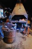 Oud smeed smeed in de Middeleeuwen Stock Afbeelding