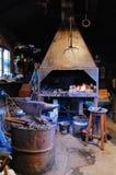Oud smeed smeed in de Middeleeuwen Stock Foto