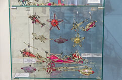 Oud Sovjetkerstmisspeelgoed - vliegtuigen en luchtschepen Stock Afbeelding