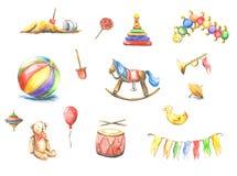 Oud speelgoed vector illustratie