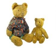 Oud speelgoed - pluche beren Stock Afbeeldingen