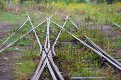 Oud spoor x verbinding, Juntion, Fusie royalty-vrije stock foto