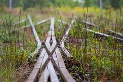 Oud spoor x verbinding, Juntion, Fusie stock fotografie