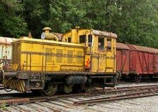Oud spoorwegslot voor vervoer Stock Fotografie