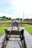 Oud spoorwegspoor in Tumpat, Kelantan royalty-vrije stock fotografie