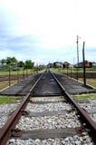 Oud spoorwegspoor in Tumpat, Kelantan royalty-vrije stock afbeelding