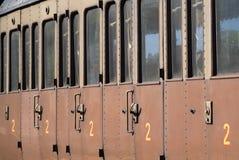 Oud spoorwegvervoer stock afbeeldingen