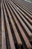 Oud staal van spoorweg royalty-vrije stock fotografie