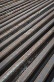Oud staal van spoorweg Royalty-vrije Stock Afbeeldingen