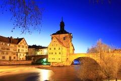 Oud Stadhuis in Bamberg Stock Foto