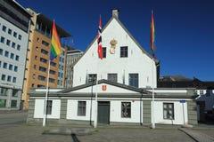Oud stadhuis in Bergen Royalty-vrije Stock Fotografie