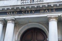 Oud Stadhuis in Boston, doctorandus in de letteren Stock Fotografie