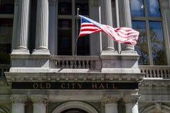 Oud Stadhuis in Boston, doctorandus in de letteren Stock Foto