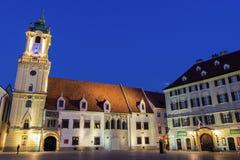 Oud Stadhuis in Bratislava Stock Foto's