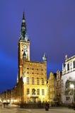 Oud stadhuis in Gdansk Stock Fotografie