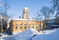 Oud stadhuis. Lappeenranta. Finland royalty-vrije stock afbeelding