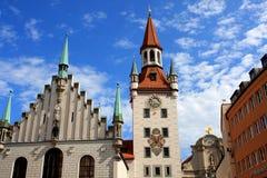 Oud Stadhuis in München, Duitsland stock foto's