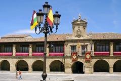 Oud stadhuis Santo Domingo de Calzada, Spanje stock afbeelding