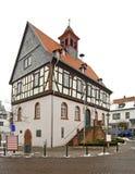 Oud stadhuis in Slechte Vilbel duitsland stock foto