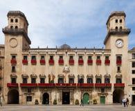 Oud stadhuis in Spaanse stad Alicante Stock Afbeelding