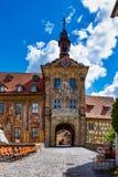 Oud Stadhuis van Bamberg in Beieren Duitsland stock foto