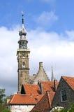 Oud stadhuis van de Nederlandse plaats Veere Stock Afbeeldingen